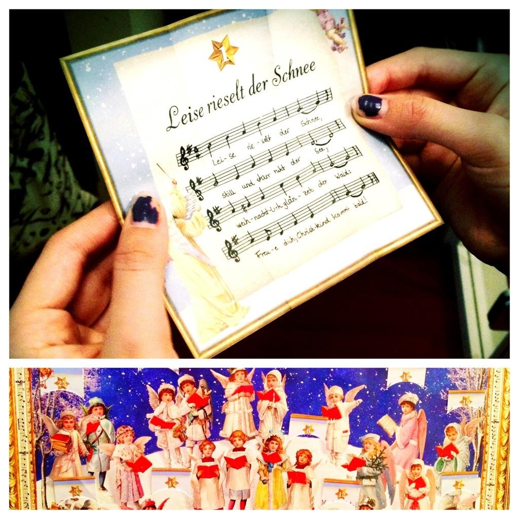 Das erste Türchen am Weihnachtslieder-Kalender: Herzensmädchen singt sehr schön, bräuchte aber dringend eine Maniküre.