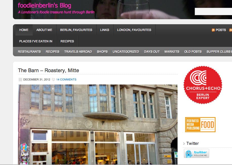 "Suzan's Blog ""Foodie in Berlin"""
