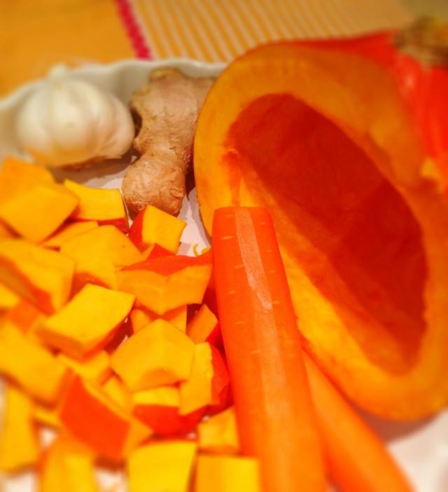 Kürbis, Karotten, Ingwer