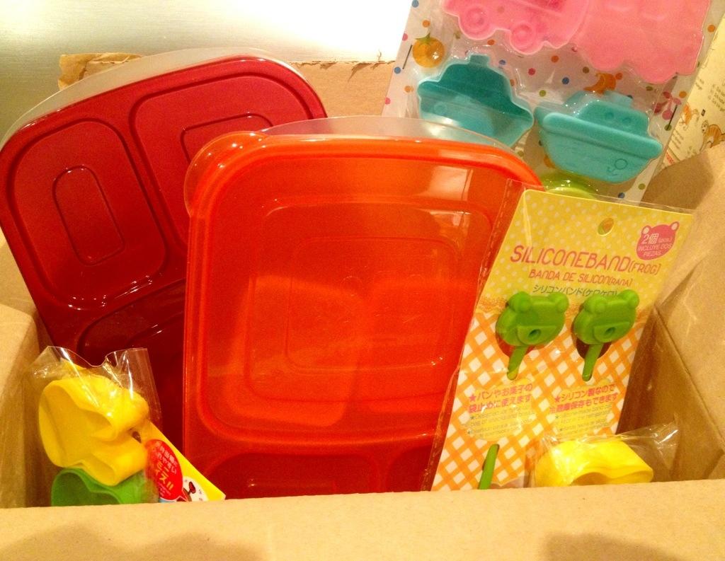 Prall gefülltes Paket vom Bentoshop für die Easylunchbox-Verlosung!