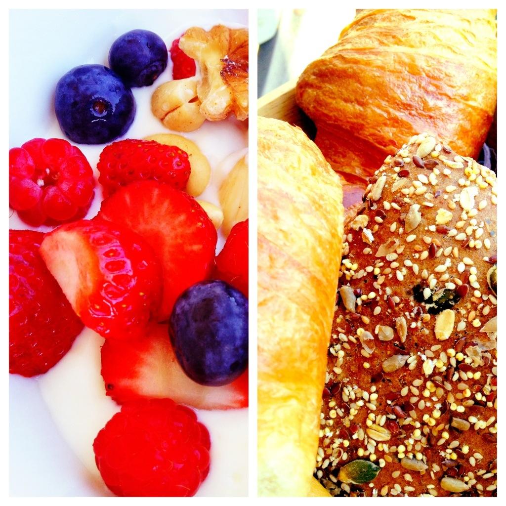 Collage, Obst und Brot