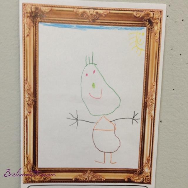 Kinderzeichnung, Portrait