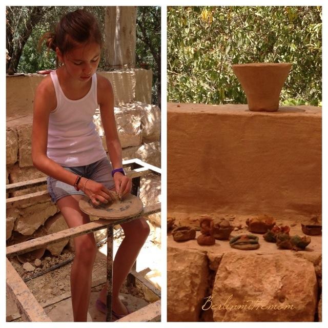 Ein Yael, Ein Ya'al, Pottery, töpfern, Living Museum, Jerusalem mit Kindern, Reisetipps, Israel