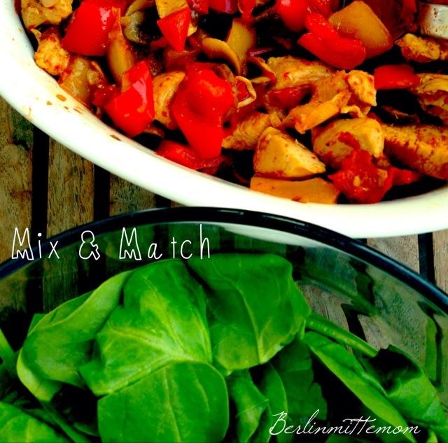 Fajitas con Pollo, Lieblingsrezept, Füllung, Weizenmehltortillas, Salat, gesund, Gemüse, healthy, Veggies