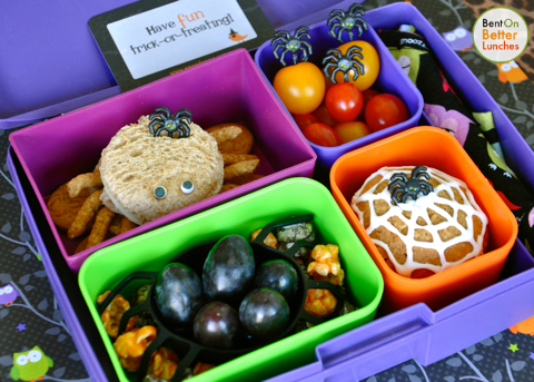 Spooky Spider Laptop Lunch Bento Box Bentonbetterlunches