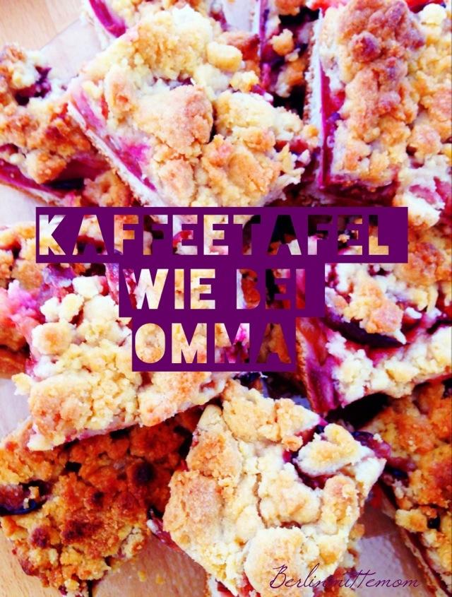 Kaffeetafel wie bei Omma, Pflaumenkuchen mit Streuseln, Oma, Rezept, Blechkuchen, Obstkuchen, Rezept, Lieblingskuchen