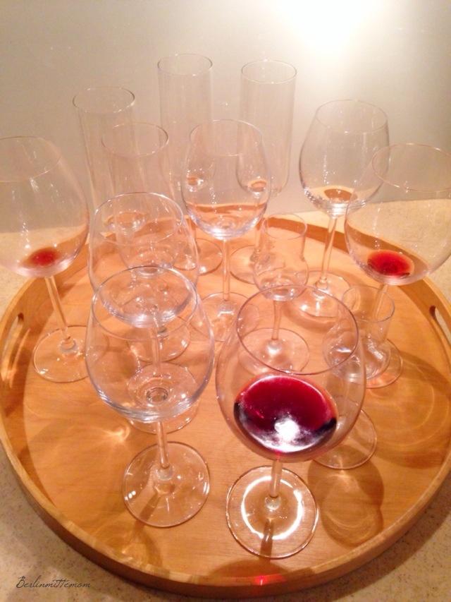 12 von 12, Reste, Weingläser