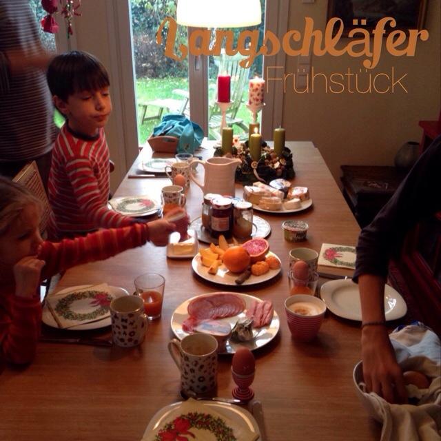 Dankbarkeit statt Sachen, Christmas Challenge of Thankfulness, Langschläferfrühstück