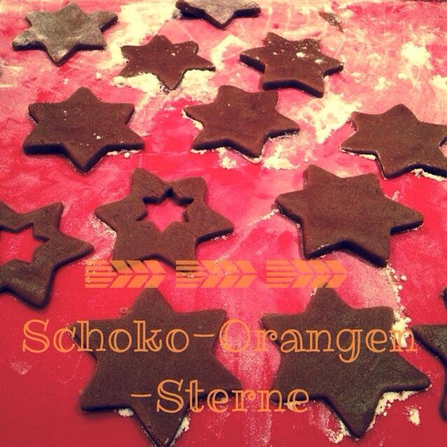 Schoko-Orangen-Sterne, Rezept