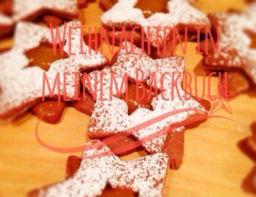 Schoko-Orangen-Sterne, Weihnachten in meinem Backbuch, Rezept, Plätzchen