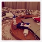 Weihnachtsvorfreude, Grippe