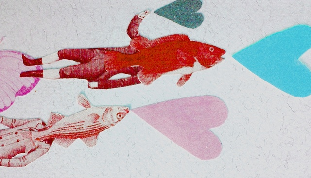 laura norscia, fish love collage,