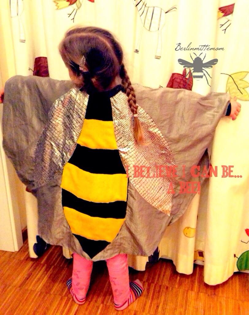 Karnevalskostüme für Kinder, Faschingskostüme, selber nähen, Bastelmuddihölle, Biene