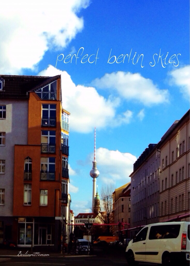 12 von 12 im Februar, perfect Berlin Skies, Fernsehturm, Telespargel