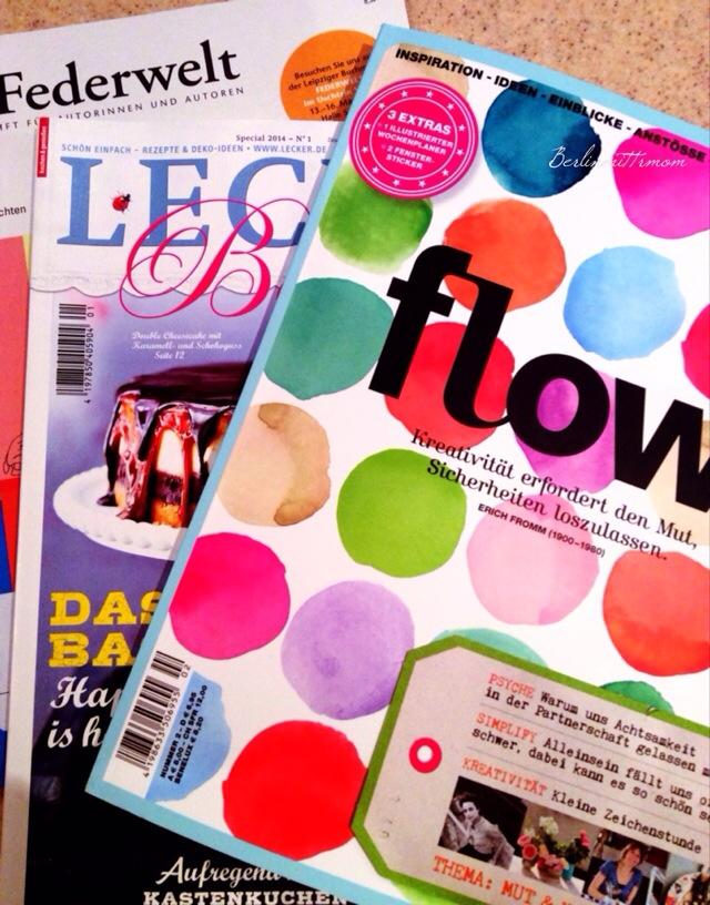 12 von 12 im Februar, Zeitschriften, Flow