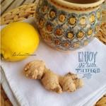 Hausmittel gegen Erkältung, heißer Ingwer Aufguss, Zitrone, Honig, entzündungshemmend