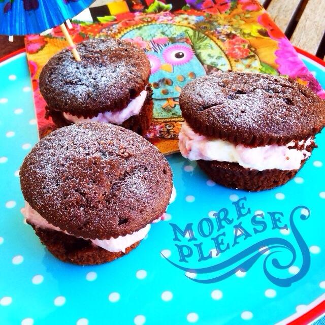 Schwarzwälder Kirsch Muffins, Rezept, Backen, Geburtstag