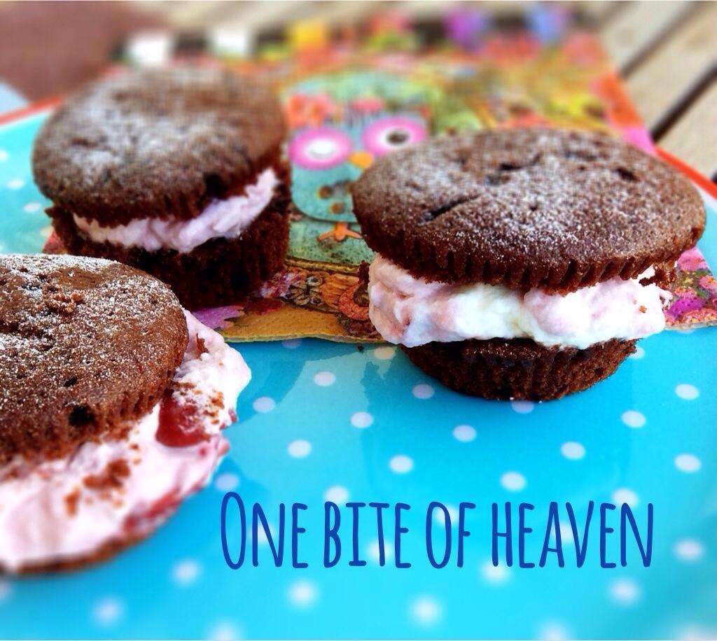 Schwarzwälder Kirsch Muffins, Rezept, Kindergeburtstag, Backen