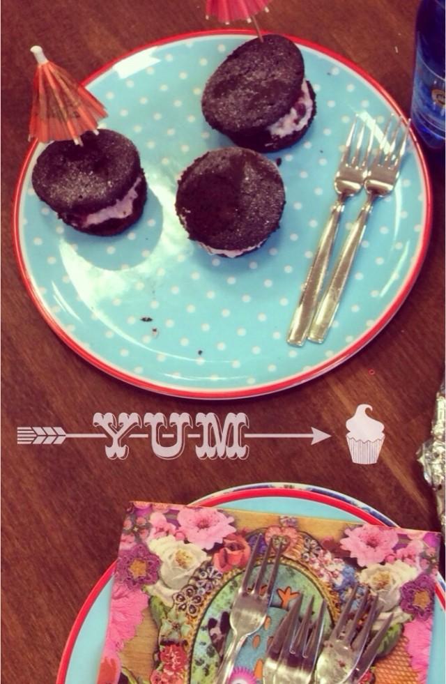 Schwarzwälder Kirsch Muffins, Rezept, Backen , Kindergeburtstag