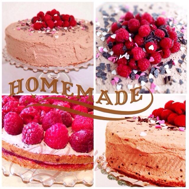 Schoko Himbeer Sahne Torte, Rezept, Zutaten