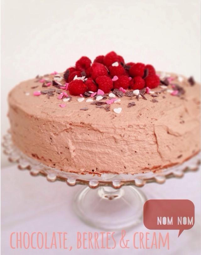 Himbeer Schoko Sahne Torte, Geburtstagstorte, Rezept, Geburtstagskuchen