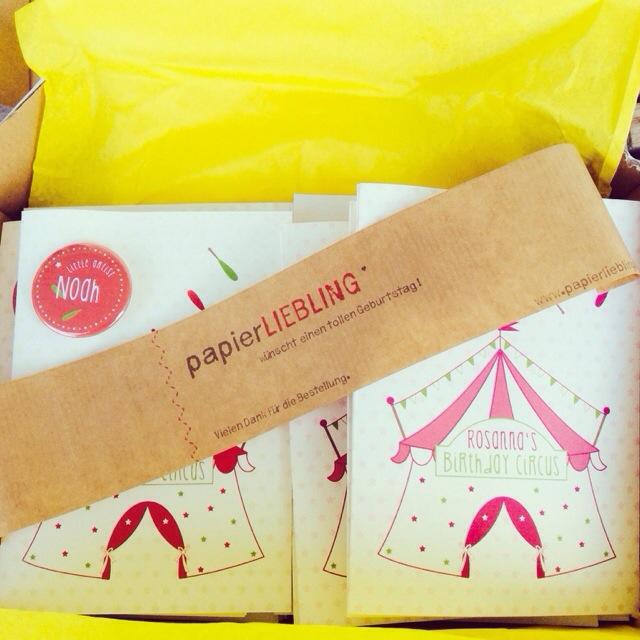 Papierliebling, Einladungskarte, Birthday Circus, Zirkusparty