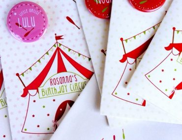Papierliebling, Birthday Circus, Zirkusgeburtstag, Buttons