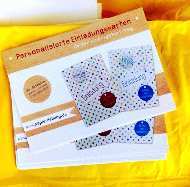 Papierliebling, personalisierte Einladungskarten, Kindergeburtstag