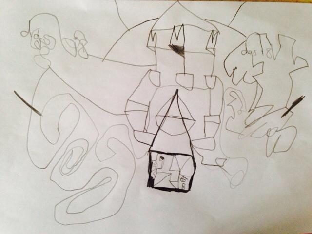 12 von 12 im Juni, 12v12, Kid's drawing, Kinderzeichnung