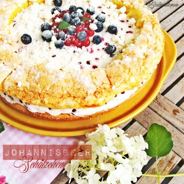 Johannisbeer Sahne Baiser Torte, Rezept, Backexperiment,