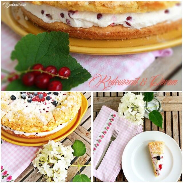 Johannisbeer Sahne Baiser Torte, Rezept