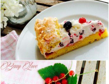 Johannisbeer Sahne Baiser Torte, Backen, Rezept