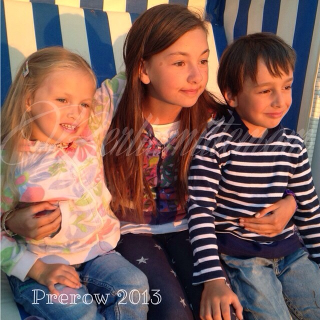 Prerow, Strandkorb, kinder, Ostsee