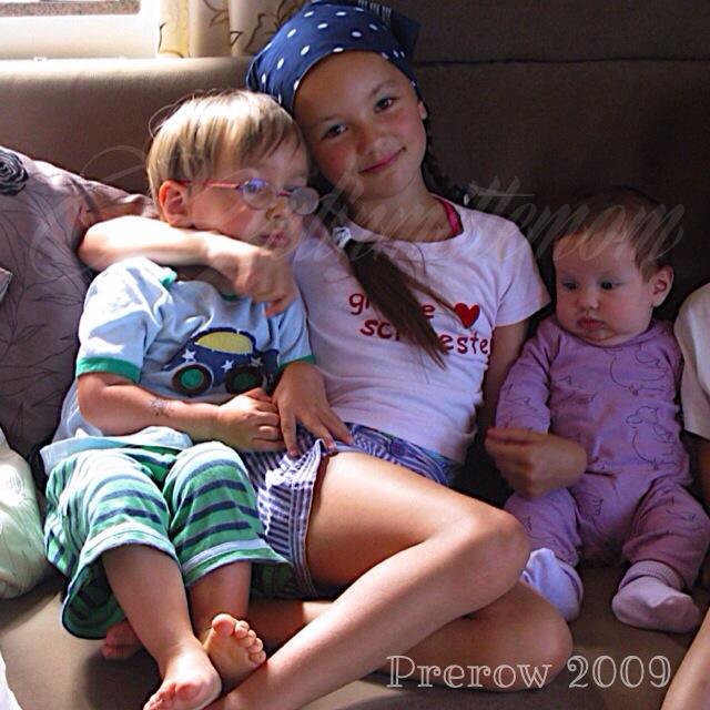 Darß, Prerow, Geschwister, Ostseeurlaub