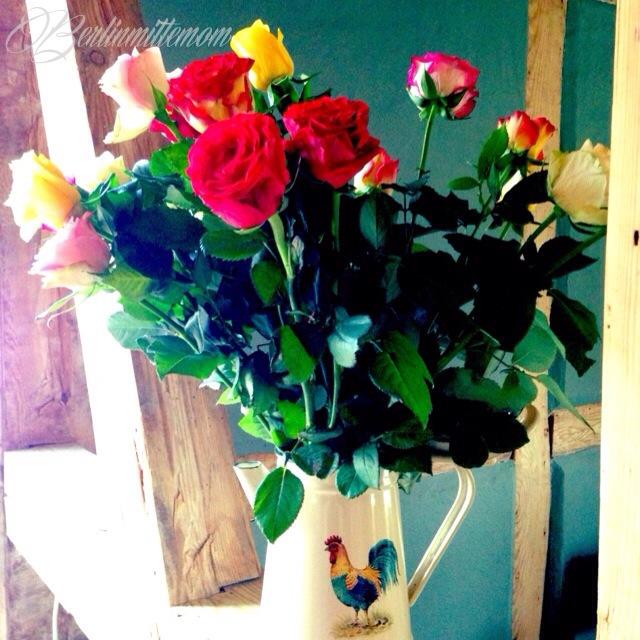 Photo Diary, Geburtstagsblumen , Rosen, Blumenstraß