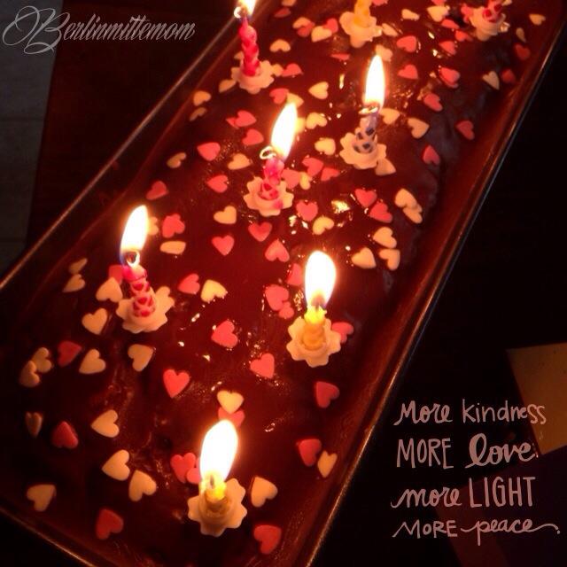 Photo Diary, Geburtstagskuchen, Kerzen, Schokoladenkuchen