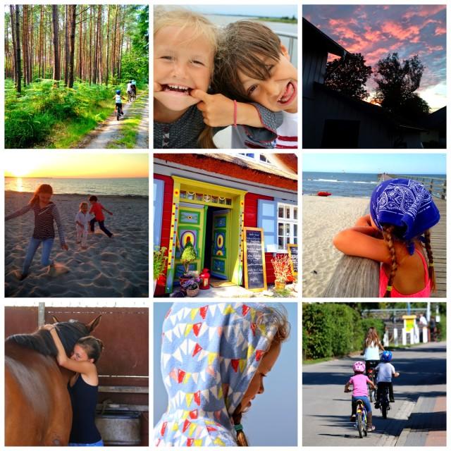 Sommerliebe, Darß, Ostsee, Sommerferien mit Kindern, Collage, Picmonkey