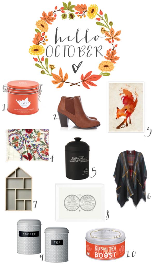 Wishlist, Lieblinks der Woche, hello October, Inspiration, Herbst