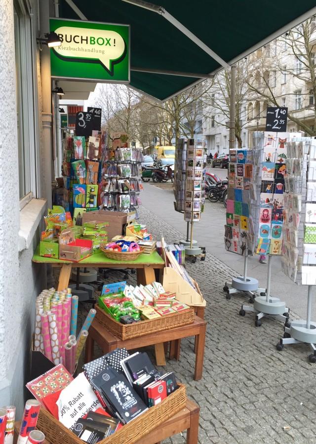 12 von 12, 12v12, draußen nur kännchen, Buchbox, Buchhandlung, Kiezbuchhandlung, Prenzlauer Berg