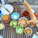 Kleine Genießer, Kochen für Kinder, Familienkochbuch, Sommerpicknick, Tomatenfrischkäse, Rezept