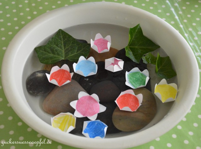 DIY mit Kindern, kleiner Seerosenteich, Zuckersüße Äpfel, Sommerliebe