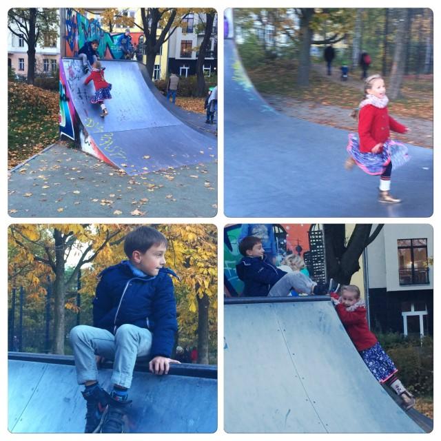 Wochenende in Bildern, Spaziergang, Halfpipe, Friedrichshain,  Kinder, Leben mit Kindern, urban childhood