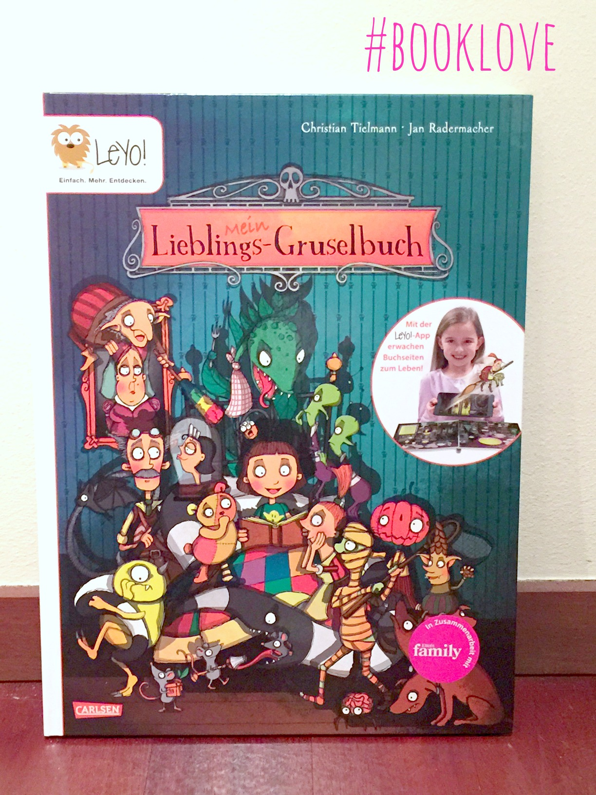 Leyo App, Test, Collage, Booklove, Buchrezension, Kinderbuch, Carlsen Verlag