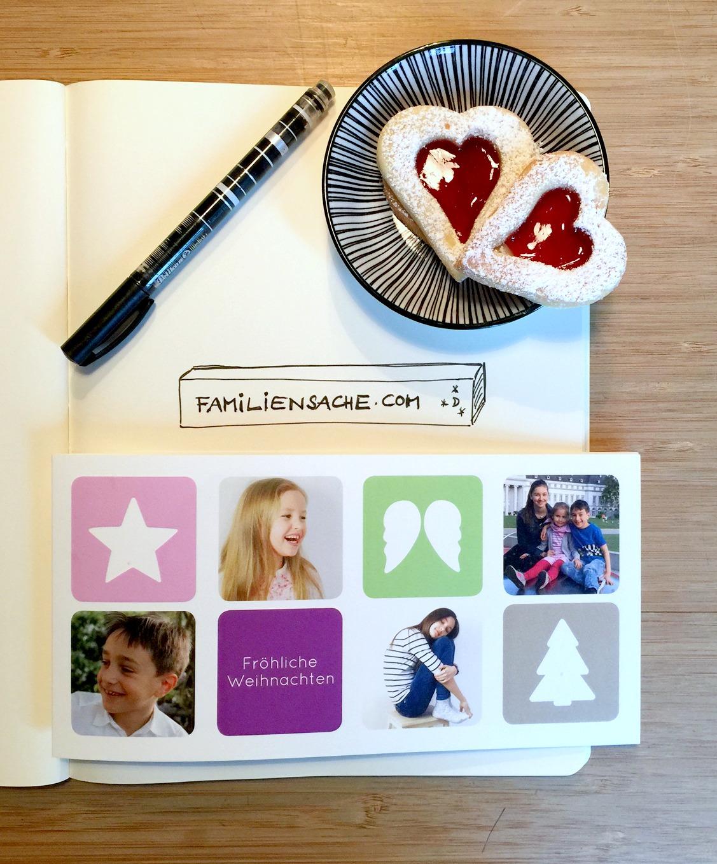 Familiensache.com, Weihnachtskarte, Weihnachtspost, Babykarte, Fotogeschenke, gestalten, kreativ, Tipp, Giveaway, Verlosung, Gewinnspiel