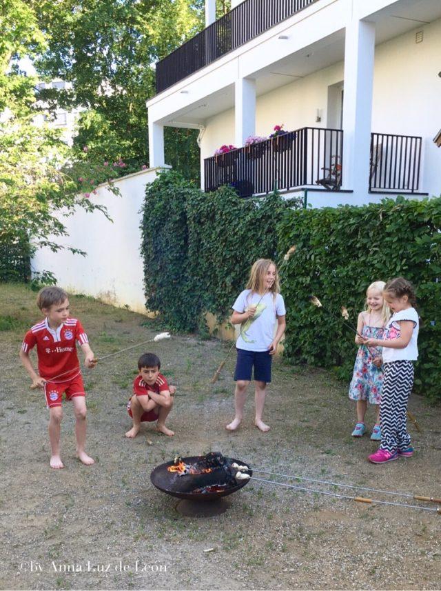 Fußballgeburtstag, Wochenende in Bildern, Stockbrot, Leben mit Kindern, Kindergeburtstag, Feier, Bonfire, Feuerschale
