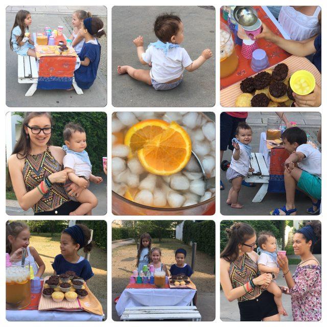 Pop Up, Wochenende in Bildern, Collage, Limonadenstand, Muffin, Verkauf, Laden, Kinder
