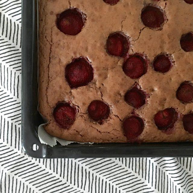 Erdbeerbrownies, Erdbeer Brownie, Rezept, Wochenende in Bildern