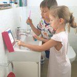 zähneputzen mit kindern ::: die playbrush von tchibo im test (werbung)