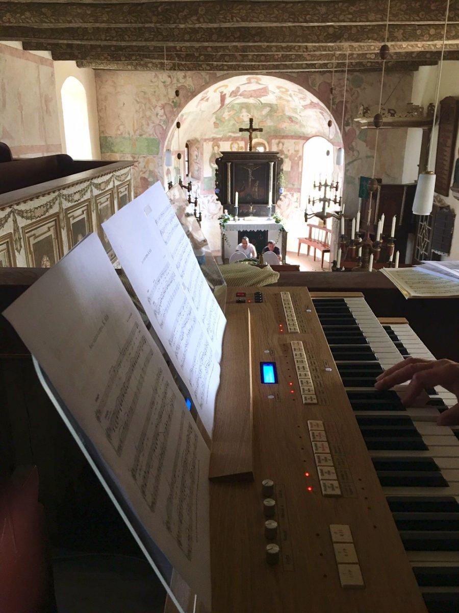 Landhochzeit, Kirche, Orgel