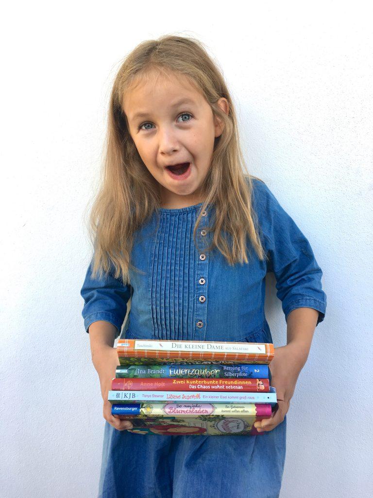 5 Buchtipps für Kinder, 7jährige, Mädchen, Lesetipps, Bücher, Kinderbücher, Erstleser, 2. Klasse, Book Love, Lieblingsbücher, magischer Blumenladen, Kleine Dame, kunterbunte Freundinnen, Liliane Susewind